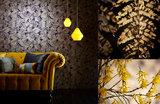 Behang Harlequin Espinillo 111394 aubergine - gold sfeer Callista collectie luxury by nature
