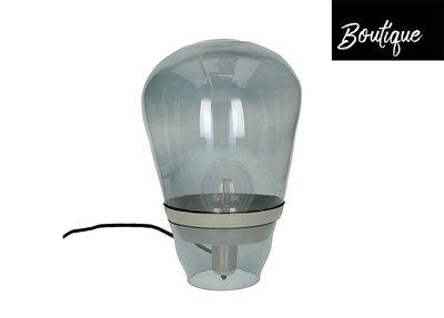 Bulb Lamp Glas Metaal Smoke