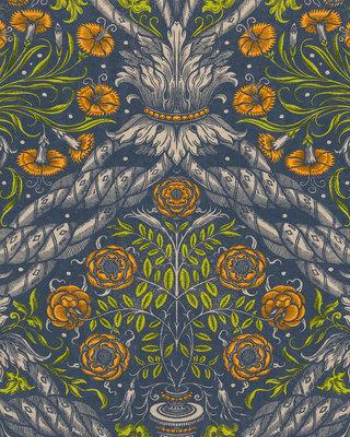 Mind the Gap Floral Ornament Behang