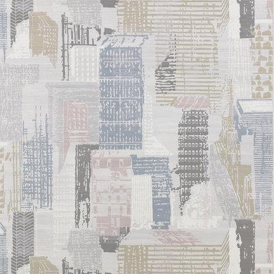 Jane Churchill Cityscape Behang