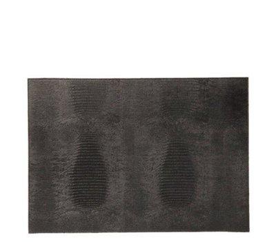 Placemat Reptiel Print Hagedis Black