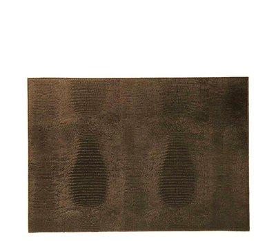 Placemat Reptiel Print Hagedis Brown