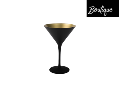 Zwart Goud Cocktailglas 240ml - set van 2