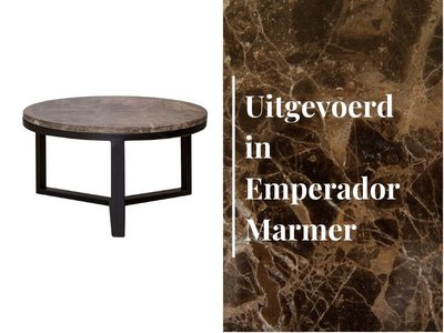 Duran Lucena Coffee Table Ø60 cm Emperador Marmer