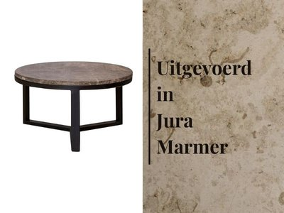 Duran Lucena Coffee Table Jura Marmer Ø60 cm H30 cm