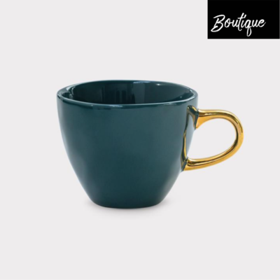 Good Morning, blue-green Coffee Cup
