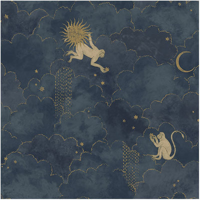 Les Dominotiers Stars and Monkeys Wallcovering