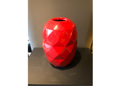 Bosa Ceramiche Red Vase Cut