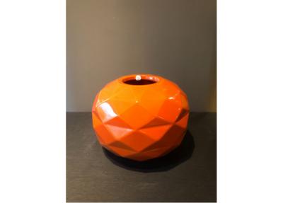 Bosa Ceramiche Orange Vase Round Cut