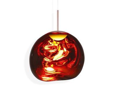 Tom Dixon Koper LED Melt Copper Ceiling Light