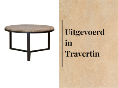 Duran Lucena Coffee Table Travertin Ø60 cm H30 cm