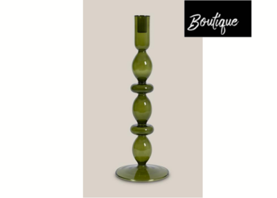 Urban Nature Culture Candle Holder Glas  Refined, firm green
