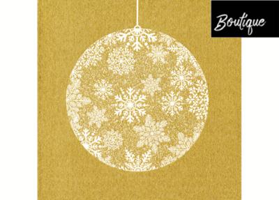 Boule De Noël Or Paviot Napkin 40 x 40 cm