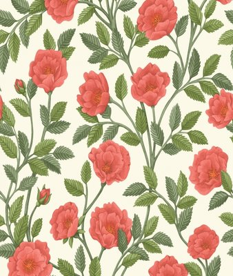 Cole and Son Hampton Roses Wallcovering