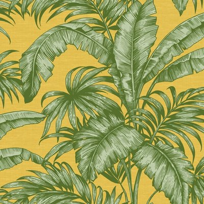 Wallquest Tropical Leaves Behang - Sage 2