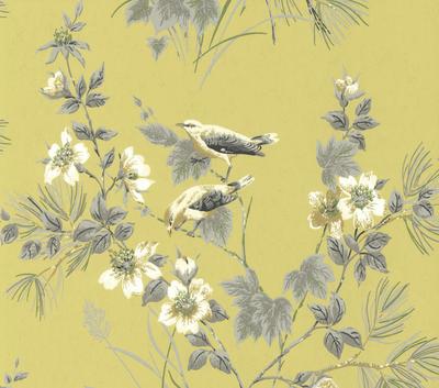 1838 Wallcoverings Rosemore Behang - Yellow