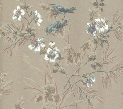 Rosemore Behang 1838 Wallcoverings - Taupe