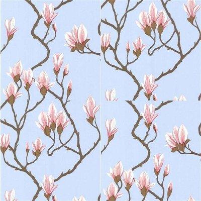 Magnolia Behang Blauw