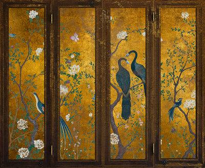 Edo Screen Gold Behang
