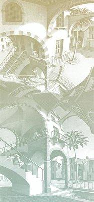 Escher Up and Down Behang