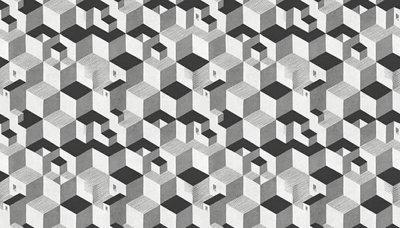 Escher Kubus Behang