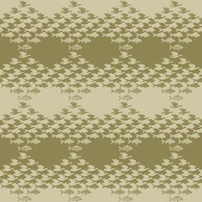 Lucht en Water Escher Behang