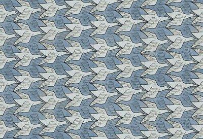 Escher Twee Vogels Behang