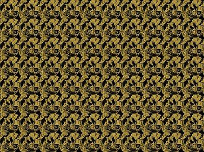 Eight Heads Escher Behang