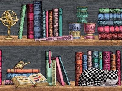 Fornasetti Libreria Behang