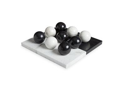 Jonathan Adler Tic Tac Toe Set Black White Marble