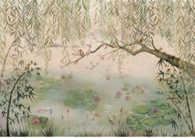 Coordonne Lotus Behang