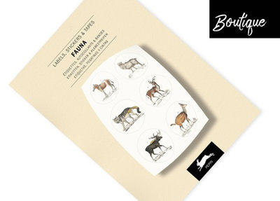 Pepin Press Stickervellen Boek Fauna