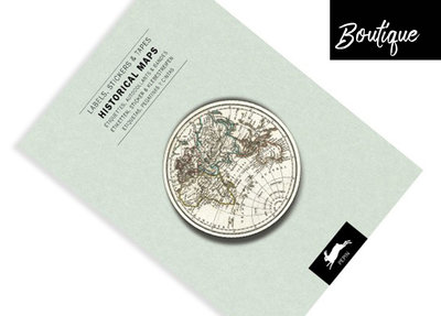 Pepin Press Stickervellen Boek Historical Maps