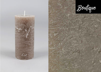 Taupe Candle Rustic