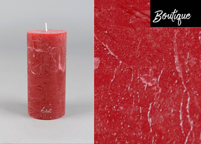 Red Candle Rustic