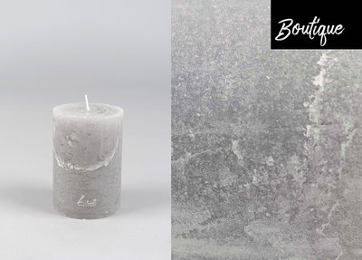 Light Grey Candle Rustic
