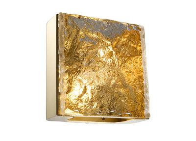 Luxe Wandlamp Eichholtz Messing Diamant